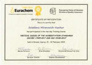 Сертификат Кипр 17025